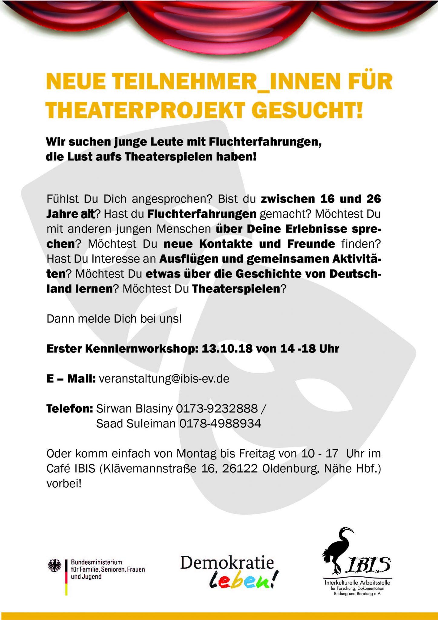 Theaterprojekt: Teilnehmer_innen Gesucht!