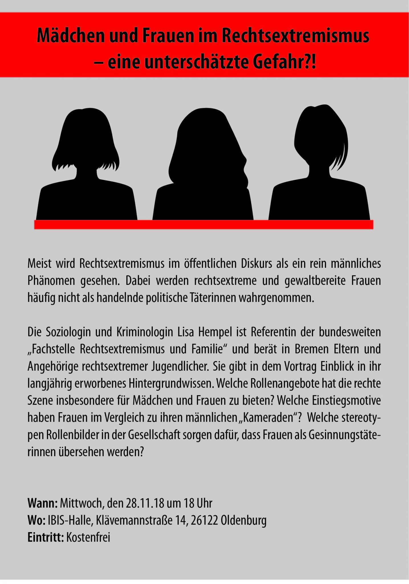 Mädchen Und Frauen Im Rechtsextremismus – Eine Unterschätzte Gefahr?!