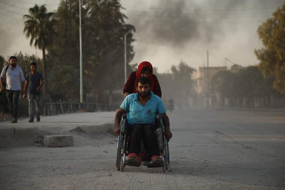 Rollstuhl Rojava