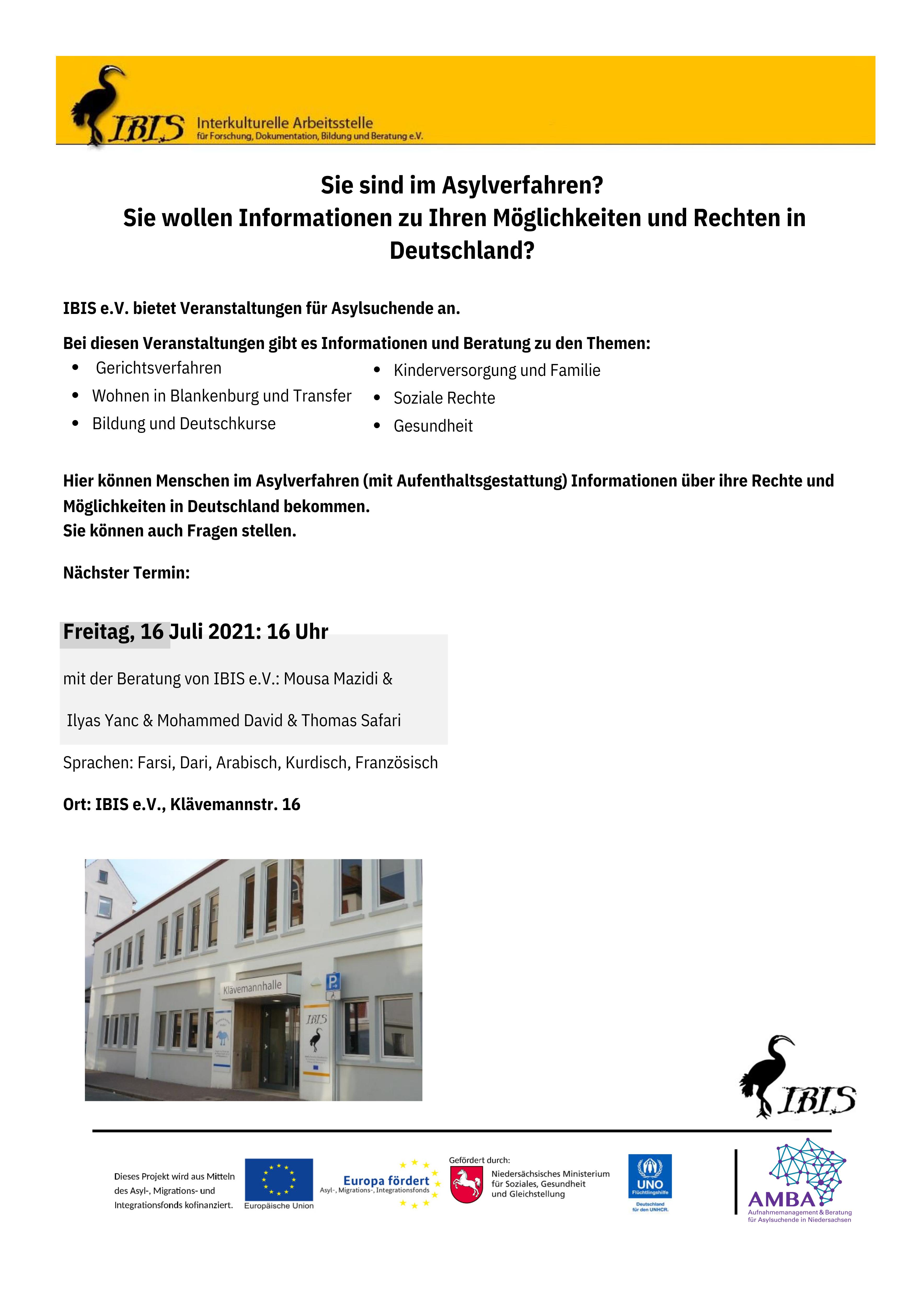 Sie Sind Im Asylverfahren? Sie Wollen Informationen Zu Ihren Möglichkeiten Und Rechten In Deutschland?