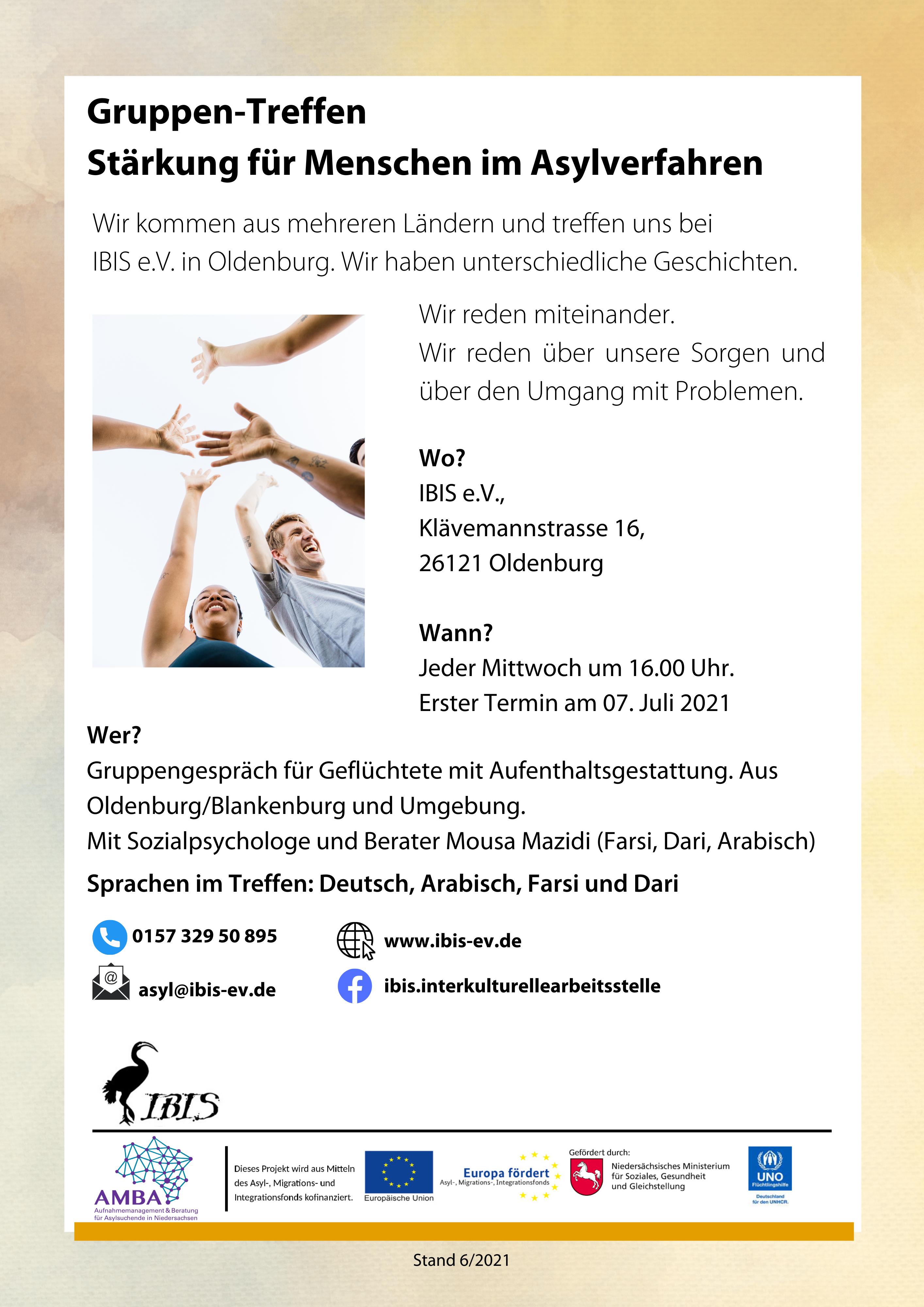 Gruppen-Treffen – Stärkung Für Menschen Im Asylverfahren
