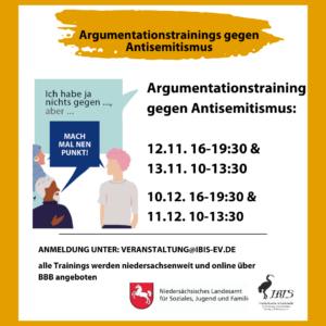 Argumentationstrainings gegen Antisemitismus @ Online